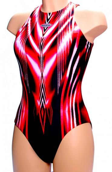 Badpak Met Dichte Rug.Badpak 62669 Rd Kleim Swimwear